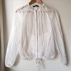 Zara Basic Mesh Sheer Bomber Jacket